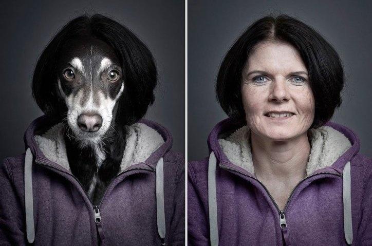 14.jul.2016 - O profissional suíço comprovou como essas semelhanças entre humanos e seus melhores amigos peludos podem ir longe