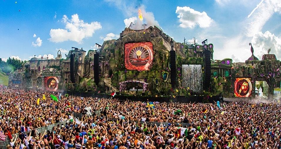 21. Festival anual de música Tomorrowland, em Boom, na Bélgica