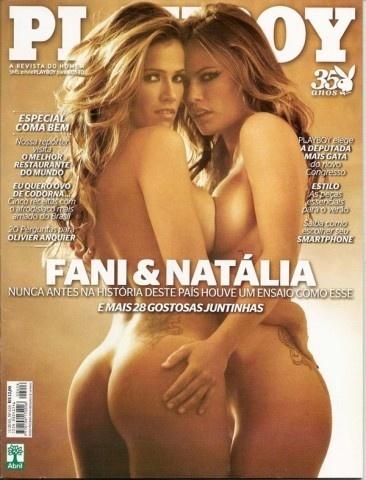 """As ex-BBBs Fani Pacheco (à esq.) e Natália Cassasola, participantes do """"BBB7"""" e """"BBB8"""" respectivamente, fizeram juntas um ensaio sensual para a edição de novembro de 2010 da Playboy"""