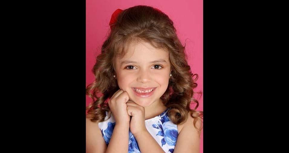 Ana Cristina, de São Paulo (SP), enviou foto da filha Sophia, de cinco anos