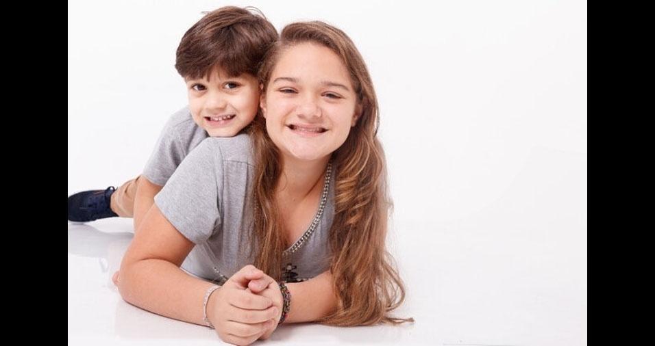 Anna Karollina e Gabriel Thor, de Diadema (SP), em foto enviada pela mamãe Sueli de Oliveira Franco
