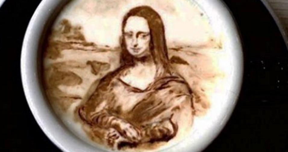 60. Mona Lisa, é claro, não ficaria de fora de tanta arte cafeinada