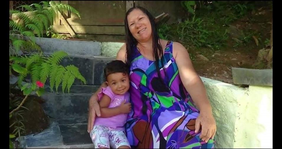 Vovó Eide Sodré com a neta Beatriz Sodré, de Campinas (SP)