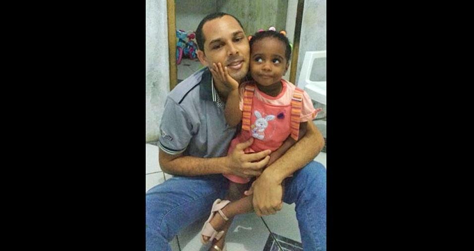Papai Gilvan e sua filha Ivana