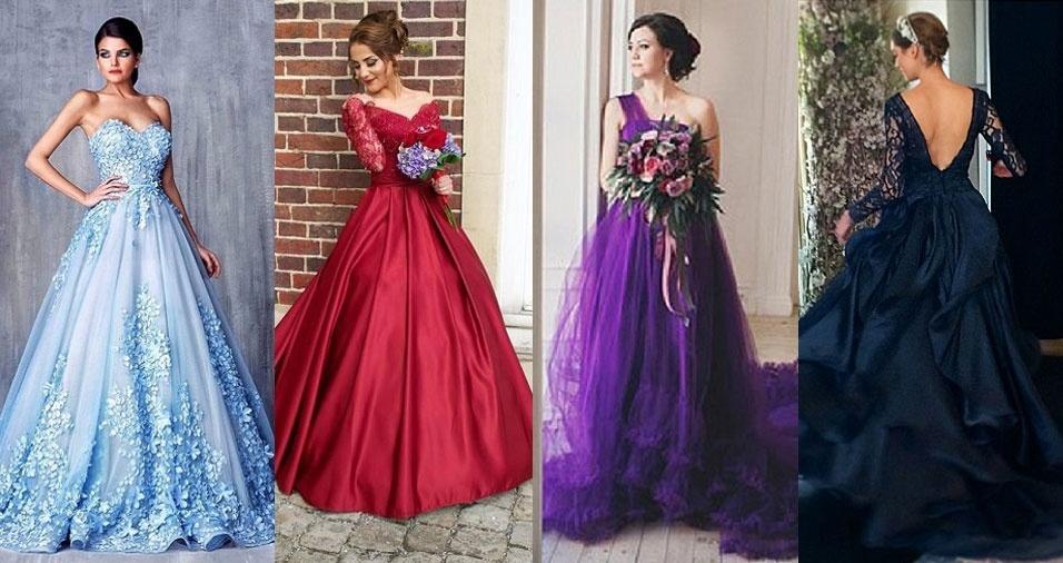 Maio é o mês das noivas, e resolvemos trazer algumas inspirações de vestidos que vão dar um colorido a mais para a cerimônia. Esqueça o traje todo branco: estes modelos de inúmeras cores podem surpreender até mesmo a noiva
