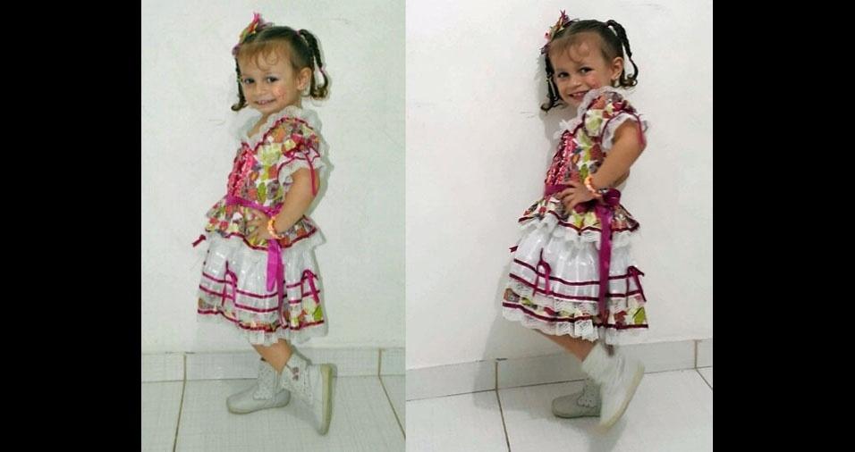 Elka Araujo Mateus, de Recife (PE), mandou foto da filha Maria Eduarda, de dois anos