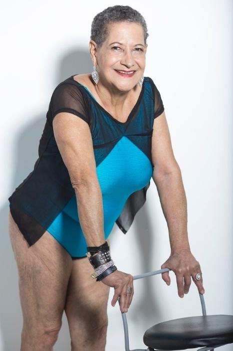 23.mai.2016 - Geralda posa de maiô em ensaio para o Miss Bumbum Melhor Idade. A organização do concurso proíbe o tratamento com Photoshop nas imagens