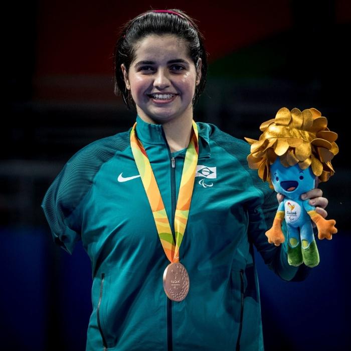 13.set.2016 - Bruna Alexandre foi bronze na disputa individual do tênis de mesa, classe 10