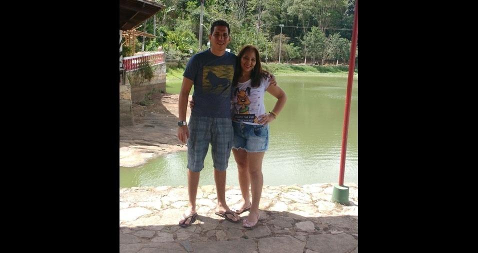 Patrick com a mãe Maria Elzimar, de Fortaleza (CE)