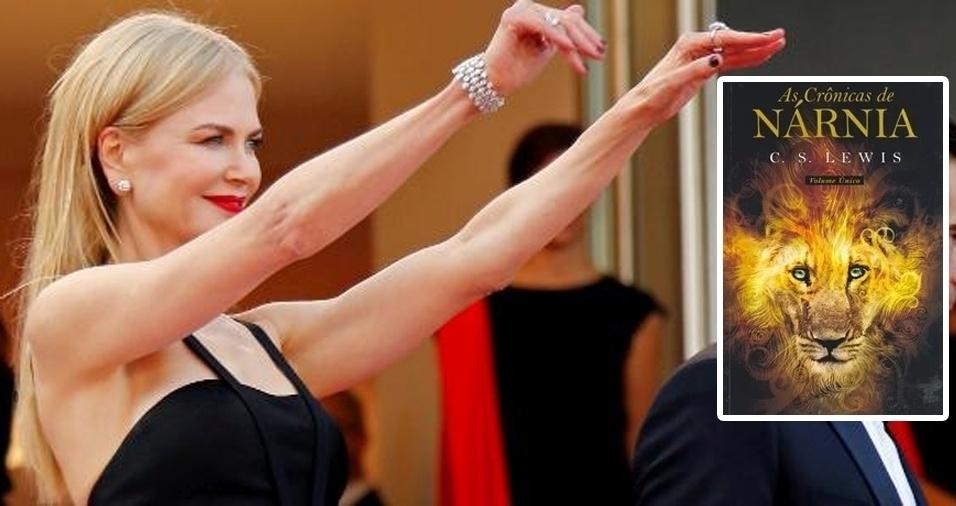 """13. A atriz Nicole Kidman ama """"As Crônicas de Nárnia"""", série de sete livros escritos por C.S. Lewis. As obras de ficção e aventura continuam cativando leitores ao longo do tempo desde que o primeiro livro, """"O Leão, a Feiticeira e o Guarda-roupa"""", foi escrito em 1949"""