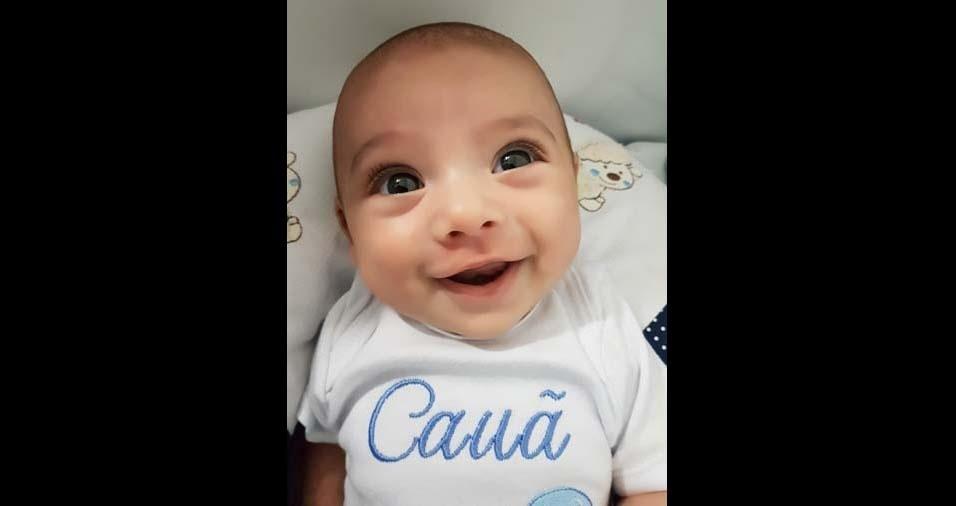 Anderson e Mariana enviaram a foto do filho Cauã, de São Paulo (SP)