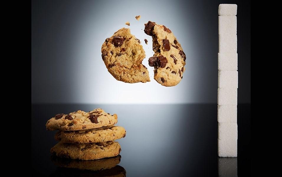 Quatro cookies contém 34 g de açúcar