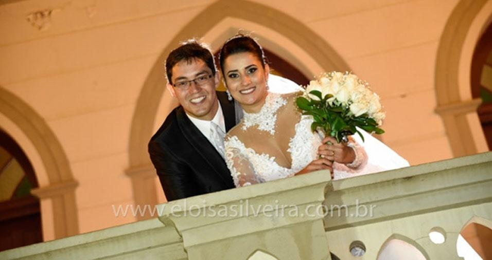Larissa Ferreira e João Henrique casaram-se no dia 3 de setembro de 2016, em Passos (MG)