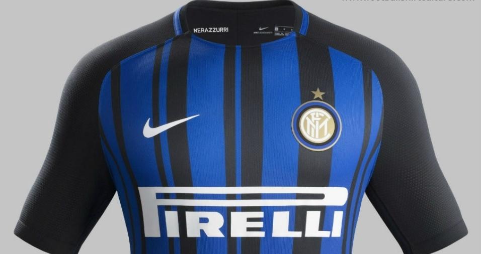 14. Internazionale - Os italianos inovaram com uma variação de sua tradicionais listras