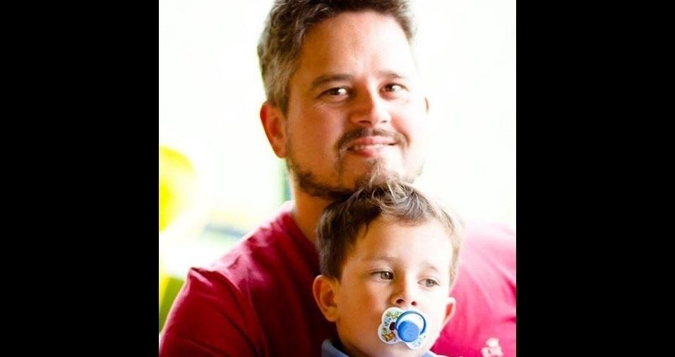 Papai Fábio e seu filho Davi, de Telêmaco Borba (PR)