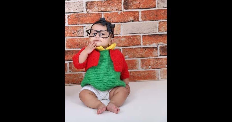 Felipe Reis enviou a foto da filha Sofia, de Ipatinga (MG)