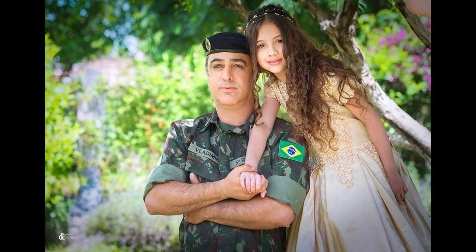 Gabriela com o papai Vladimir, de Eldorado (RS)