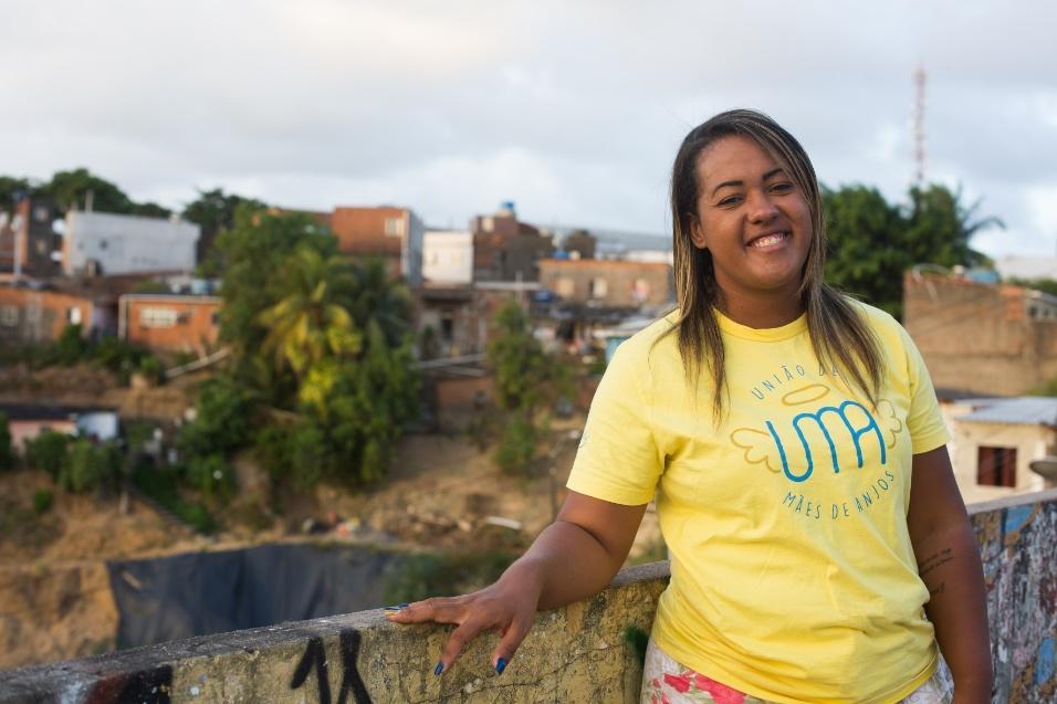 Germana Soares - UMA - Germana Soares é de Jaboatão dos Guararapes (PE), mas hoje mora na capital Recife com Guilherme, seu filho primogênito, de 3 anos, e Geovanna, de um ano