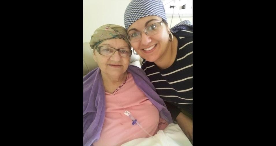 Anne Helen com a mãe Eva, de Pelotas (RS)