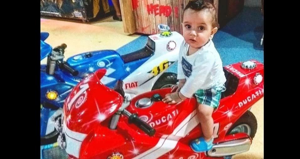 Igor e Karla enviaram foto do filho Luis Miguel, de dez meses