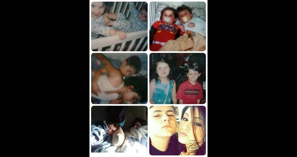 """Marcia, de São Paulo (SP), enviou foto dos filhos Nathalia, de 20 anos, e Thiago, de 19 anos: """"Eternas crianças do meu coração!"""""""