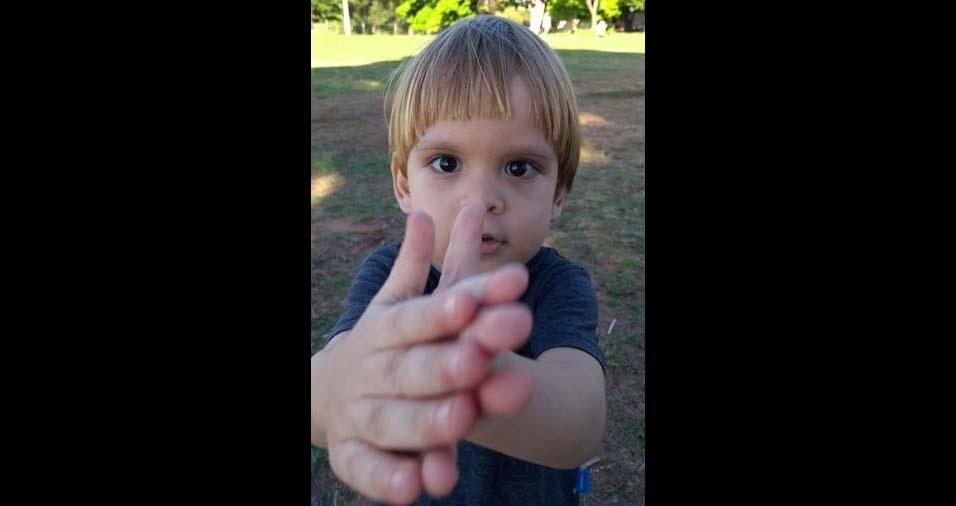 Renan, de Presidente Estácio (SP), enviou foto do filho Miguel
