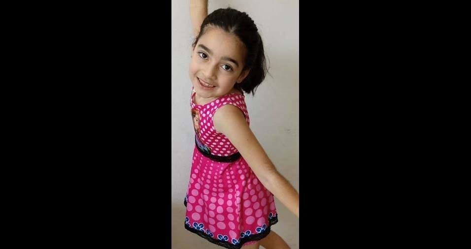 Selma, de Resende (RJ), enviou foto da filha Yasmin, de sete anos