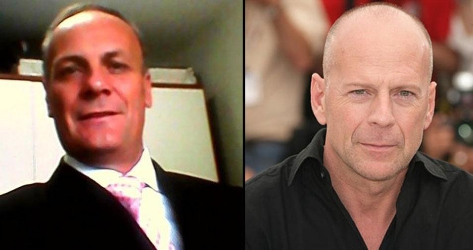 """Joacir Oberst, de Curitiba (PR), conta: """"Me acho parecido com o ator Bruce Willis"""""""