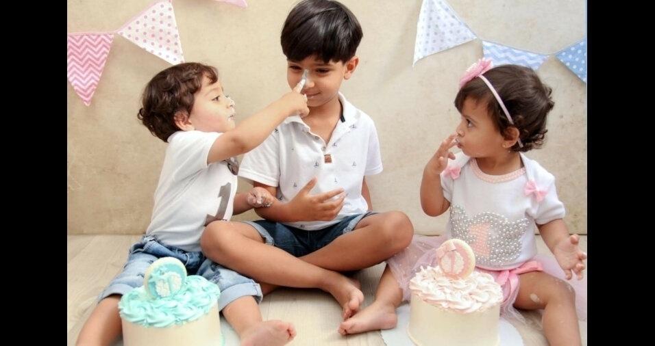 Juan, Isaac e Isabella, filhos da Tatiane e do José Roberto, de São Paulo (SP)
