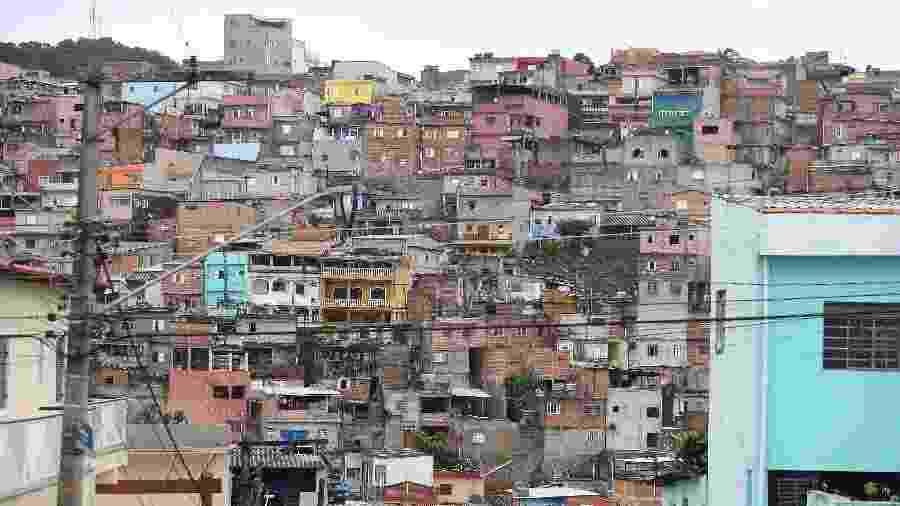 Distrito de Jardim Ângela, onde 60,11% da população é preta ou parda - Rivaldo Gomes/Folhapress