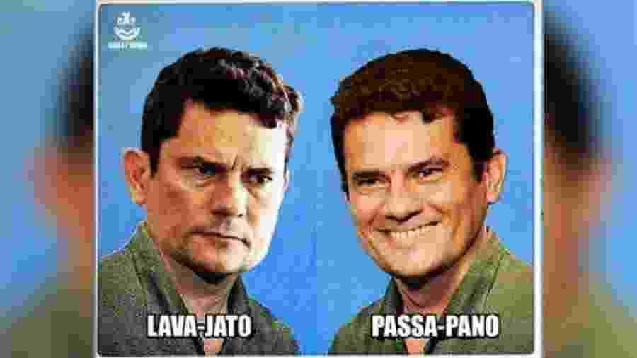 Meme de Sérgio Moro com comportamentos distintos - Reprodução/Twitter