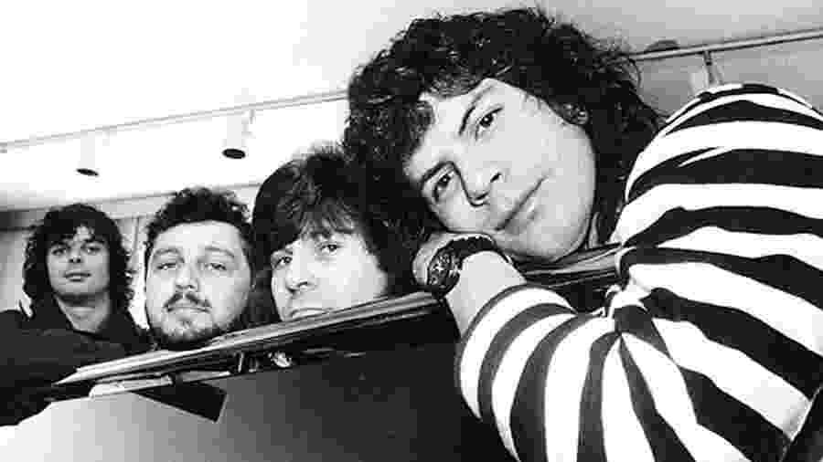 RPM: Deluqui, Schiavon, P.A. e Paulo Ricardo  (à direita) - Márcia Zoet/Folha Imagem