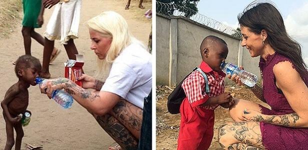3.fev.2017 - A dinamarquesa Anja Ringgren Lovén resgatou o menino e aparece nas fotos ao lado de Hope, hoje saudável