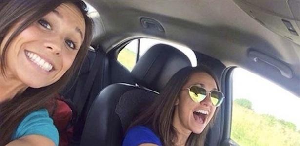 A jovem Collete Moreno (esq.) posta foto minutos antes de acidente que tirou sua vida