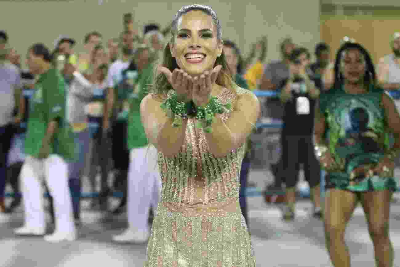 22.jan.2017 - Wanessa Camargo, musa da Mocidade, participa do ensaio técnico na Sapucaí - AgNews