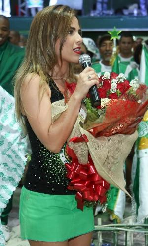 17.dez.2016 - Wanessa Camargo é apresentada como musa da Mocidade Independente de Padre Miguel no Carnaval 2017 com festa na quadra da escola, no Rio