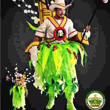 """Fantasia """"Fazendeiros e seus agrotóxicos"""", do enredo da Imperatriz Leopoldinense para o Carnaval de 2017 - Divulgação/Imperatriz Leopoldinense"""