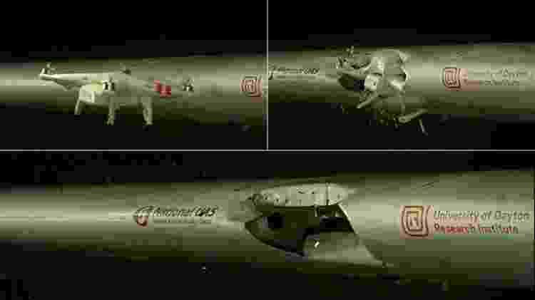Drone Dayton - Montagem/YouTube/University of Dayton Research Institute - Montagem/YouTube/University of Dayton Research Institute