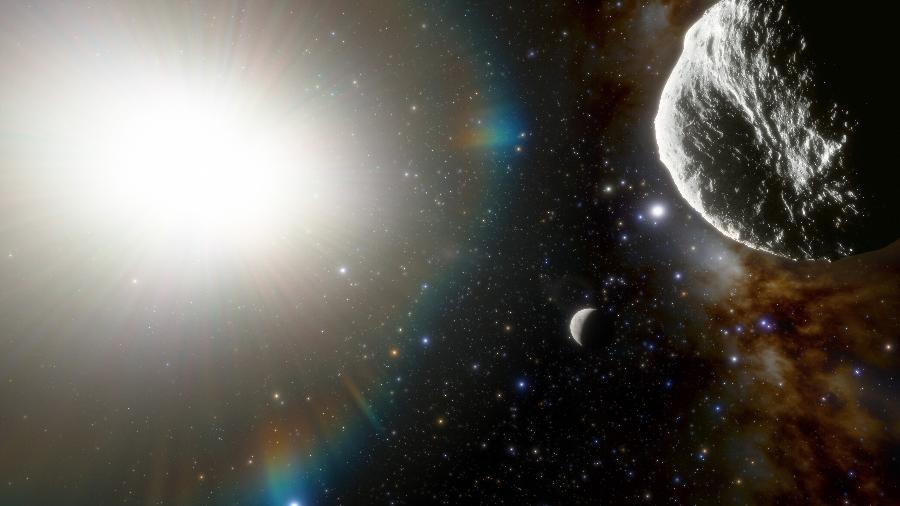 Concepção artística do asteroide 2021 PH27 - CTIO/NOIRLab/NSF/AURA/J. da Silva