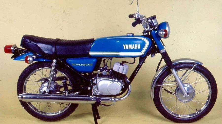 Yamaha RD 50 foi a primeira moto fabricada no Brasil em 1974 - Agência Infomoto
