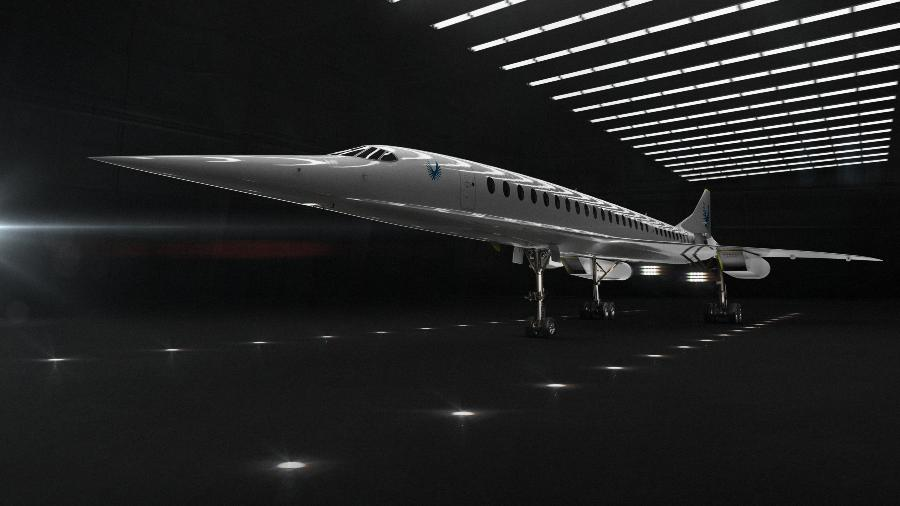 Avião supersônico Overture, da Boom Supersonic, pode ser o sucessor do Concorde - Divulgação/Boom Supersonic