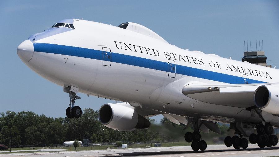 E-4B Nightwatch, o avião do Juízo Final do governo dos EUA, preparado para uma guerra nuclear - Jacob Skovo-Lane/10.jul.2019/Departamento de Defesa dos Estados Unidos