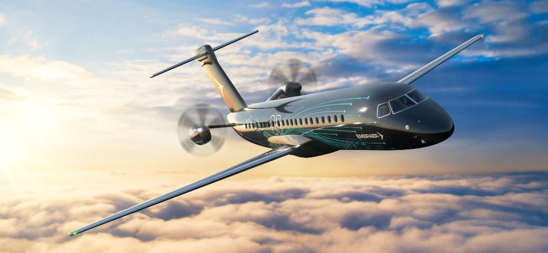 Projeto do novo turboélice da Embraer, o TPNG, previsto para entrega entre 2027 e 2028 - Divulgação/Embraer