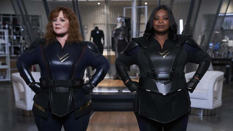 """Melissa McCarthy e Octavia Spencer em """"Esquadrão Trovão"""" - HOPPER STONE/NETFLIX"""