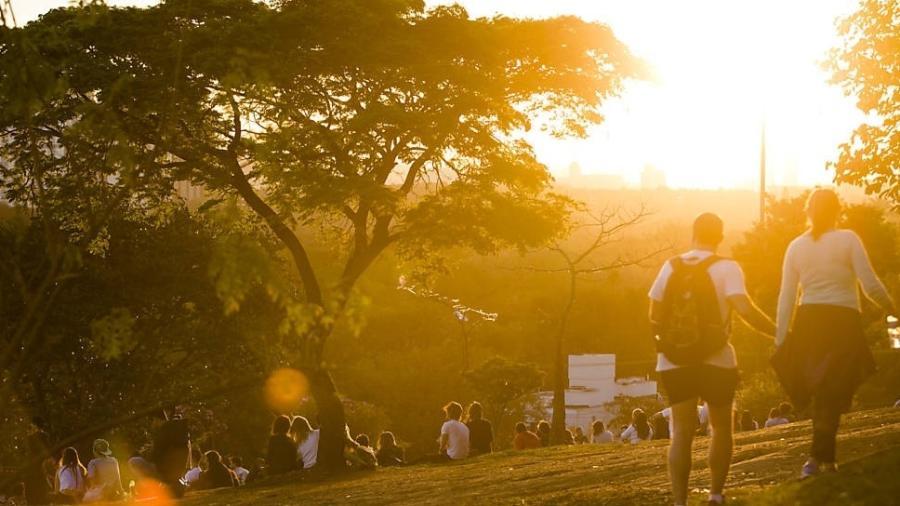 Praça Pôr do Sol antes da pandemia.  - Fabio Braga/Folhapress