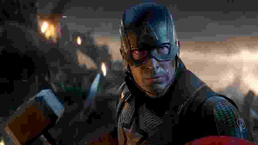 """Chris Evans como Capitão América em """"Vingadores Ultimato"""" - Marvel/Disney"""