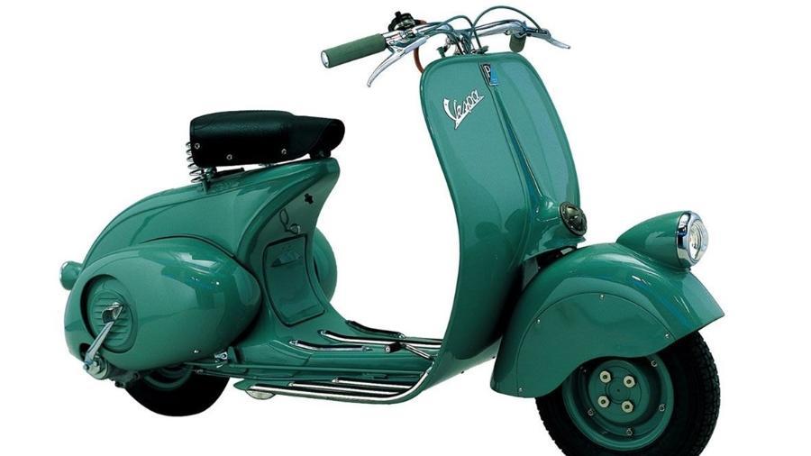 MP6, a primeira Vespa, foi apresentada em 1946 e se tornou um ícone em duas rodas - Divulgação