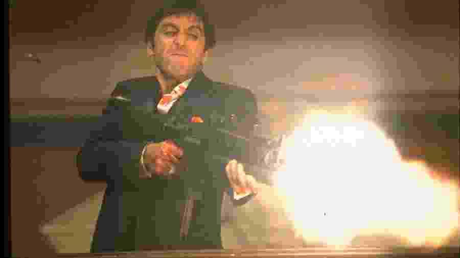 "Al Pacino em ""Scarface"" - Universal"