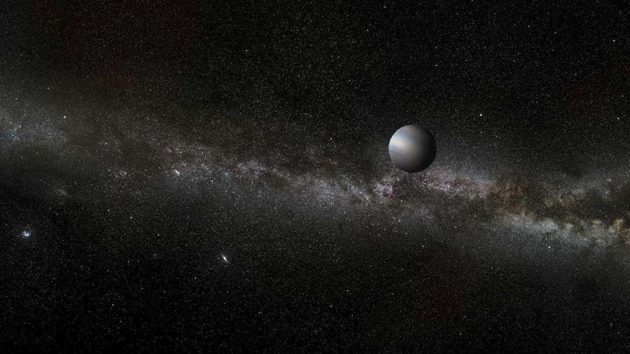 Impressão artística de um planeta errante - A. Stelter / Wikimedia Commons