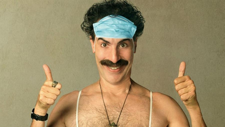 "Sacha Baron Cohen em ""Borat: Fita de Cinema Seguinte"" - Amazon Prime"